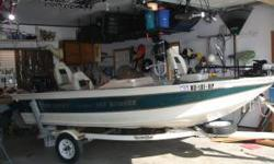 LAKE READY! Perfect size, easy to pull and launch, yet deep and wide enough to handle bigger water. Runs great, nothing wrong with boat, I upgraded to a larger boat. $ 3750.00 - Please call or email