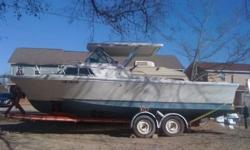 1976 stamas cuddy 22 footer,full roller trailer, dual inboard mercrusers,toilet, vhf radio,fish finder. im disabled and cant handle any more ... my loss your gain ... may consider trade for smaller boat ... no junk please ...