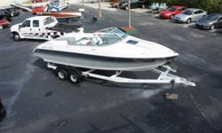 ONLY 234 HRS--BOAT WAS IN STORAGE FOR LAST 5 YEARS---BROUGHT OUT OF STORAGE LAST YEAR AND MOTOR WAS TOTALLY RECONDITIONED--ALSO NEW SEATS -- NEW BLOWER--NEW BILGE PUMP AND NEW TRIM TAB MOTORS WERE INSTALLED--ITS POWERED BY A SPECIAL ORDER 454 ORIGINALLY