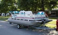 This boat runs like new and will run all day on a tank of gas. I pulled my grandson on tube from one end of the lake to the other. Call Ed at or email at (click to respond) For sale 1996 Gilgitter Pontoon Boat with Trailer. 9.9 Mercury 2 cycle New