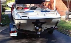 I have a very nice 1999 18 feet Stingray bowrider, has a very strong 3.0 litre inboard engine and alpha 1 outdrive with stainless steel prop, very nice interior and bimi top, comes with tube and life jackets and skies, The boat runs strong and true...Had
