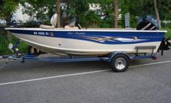 Gorgeous 2008 Smoker Craft 171 Pro Angler propelled by an ultra powerful Mercury OptiMax 115 Horsepower outboard with direct injection. The superior construction of the Smoker Craft boat mated with the legendary reliability and performance of Mercury