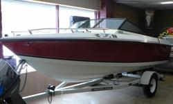 Great economical boating package, all in nice shape and working condition. Perfect for boat for cruising, tubing, and fishing. Easy size to trailer and maneuver. Well maintained, clean exterior, very good condition for year. Some wear on folding leather