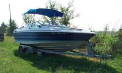 Hi -- The tandem trailer is worth almost half the asking price! The boat's deck needs some work and the cushions aren't in great shape (that's an older picture below) so that's why I've reduced the price so much. Basically, it's priced at the cost of the