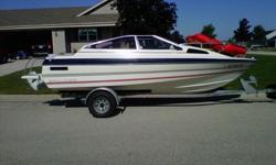 this is a 1986 bayliner capri cuddy cabin in terrific shape. all new upholstery on seats and engine compartment cover. custom covers for all upholstery and cabin cushions. full canvas. volvo penta i/o with 350 hours. boat is in great shape and runs well.
