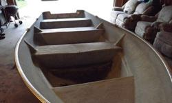 16 ft fiberglass boat NO motor or trailer. Needs new title and registration. Good little boat