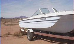 """4+ Seats; Walk-Thru Windshield; Trlr. Uses 13"""" Tires, Needs Upholstery & Engine Tuneup; Engine Ran When Boat Was Put Into Storage; Hitch Is For A Class-III 2"""" Trailer Ball; Located In Marana/Avra Valley/Picture Rocks/Twin Peaks Area; Private Party Seller;"""