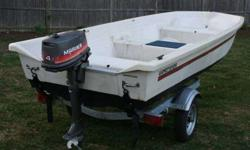 "I'm selling my 1987 13' 10"" Fiberglass Gamefisher. This boat is an oldie but goodie. Wide, stable and comfortable with a live well in the center seat. Boat weighs about 250 lbs and will handle up to a 20hp engine Contact Ken Just the boat for $400.00"