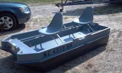 Very nice two person bass tender style boat. Included in sale is brand new Endura C2 30 Minn Kota trolling motor, brand new deep cycle battery, both swivel seats with floating seat pads. I have only had it out 3 times this year. The motor and battery were