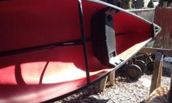 2 oars, 2 life vest, small anchor, bracket for small motor