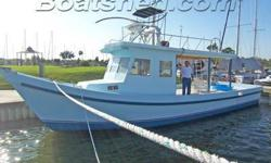 This former shrimper has been pre-owned by present owner to gather family and friends and enjoy their get togethers on the water. This is a huge vessel with plenty of room for whatever variety of uses you have in mind. You sense the history of this boat