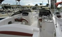 2008 Chaparrel Sunesta 244 boat with low hours for sale. VOLVO PENTA 5.0GXIDP ENGINE. Propeller/Stainless steel (4-blade). Depth sounder, Stero-am/f CD player w/4 speakers. Pump-out Porta-pottie. Transon Live well, air pump, cockpit and bow cover, Bimini