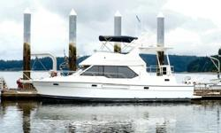 Here is a beautiful yacht with all the toys. Twin Cummins diesels with under 600 hours, an 8K generator with 250 hours, a 600 gallon fresh water maker, a 12' Caribe hard bottom inflatable with a 40hp Honda outboard. Sleeping for 3 couples in 3 staterooms.