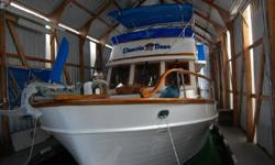 1978 40' Universal Europa Trawler, twin Ford Lehman engines, two stateroom design. Large salon, full galley, diesel furnace, inverter plus separate starting battery charger. Boathouse since new, in very good shape.Every thing aboard goes with the boat!