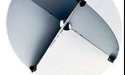 """Used Davis Deluxe Echomaster Radar Reflector These 12 1/2"""" dia. reflectors are very common on many cruising boats. All models can be stored flat and assemble in minutes. Plates are held together by tough, injection molded corner latches. Assembled"""