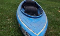 2 person , blue, 12ft. kayak , 65lbs. , very stable , Stearns life jackets (adult xl , lg) paddle included.