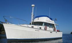 Well maintained Turn-Key Economical and easy to maintain boat for cruising at 7-8 Knots at an economical 2 to 3gph. Single Perkin T6-354 Diesel, nice electronics, many electrical and mechanical improvements. Up-dated interior. Inverter w/smart charger.