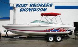 Closed Bow, Enclosed Cuddy Cabin w/ V-Berth & Seating & Sink, Power Engine Hatch / Sun Deck, 415 HP Mercruiser 502 Mag MPI, Bravo One, Drive Shower, Single Ram External Hydraulic Steering, 4 Blade SS Prop, Through Hull Corsa Captain?s Call Exhaust (Silent
