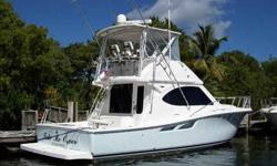 """2007 Tiara 39 CONVERTIBLE A good looking convertible with polished lines and the right balance between a very capable sport fish and upscale family cruiser.From her """"Ice Blue"""" painted hull to her rich looking interior, this is undoubtedly the offering you"""