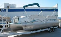JC?s Famous Triple Tube Aluminum Hull, 300 HP Mercruiser 350 Mag MPI, Through Hull IMCO Silent Choice Exhaust, Alpha One, SS Prop, Double Bimini Tops, Large Extended Swim Platform w/ Ladder, Ski Tow Bar, Sun Deck, Pop-Up Changing Room, Satellite Ready AM