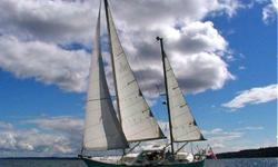 """ATHENA, is a 44 ft. Spencer 1330, center cockpit ? Ketch, Blue Water Sailboat. Canadian Built in 1978, this is hull No.16 with only 2 owners. It is in excellent Condition and is very well equipped, with a """"SAFTEY FIRST"""" mindset. The insulated double"""