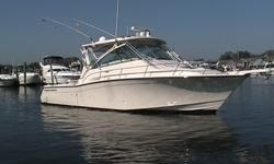 This Used 2010 Grady White 360 Express has a triple 350hp Yamaha Engines. Only 119 Hours, Sattelite TV, Flir Vision, Under Water Lights, Raymarine, and More! *Call John 516-761-5766Main SpecificationsBeam Amidships