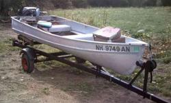I have an 11 foot boat in excellant condition no leaks no dents it has 2 oars and 2 seats motor and trailer are also for sale seperately Phil (click to respond) Listing originally posted at http