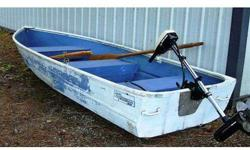 12' ALUMINUM boat with oars & 3hp Minn Kota electric trolling engine. Hull needs repainting. I have title. $450 OBO. Call 509-935-9257. .See item listed at http