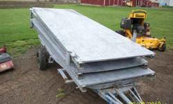 4) 4'x 13'..sections. steel w/wood walk surface PIN together.. 585-two3zero-3zero3eight