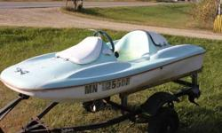 jet ski boat , starts, runs, floats, it has an inboard outboard two cycle engine $450 OBO or $350 with out the trailer.I also have 1 more if your interested. would do a deal for bolthCall Gabecell -715 -505-7418Listing originally posted at http