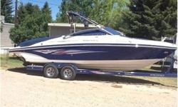 2008 Rinker 246 Captiva, This boat is in excellent shape and has been stored indoors both summer and winter. The current hours on the engine is 126. The boat is equipped with a mercruiser 496 mag with Corsica exhaust system. The engine is cupald to a