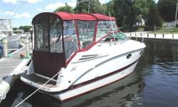 2007 24? Maxum SE powered by a fresh water cooled Mercruiser 5.0 L MPI with 210 hours and Bravo III dual prop drive located in Westerly, RIThis pocket cruiser has everything you could want in 24 ft. The remarkably spacious cleverly sleeps two in a