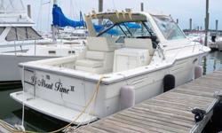 This 33? Tiara 3300 Open 1989 is located in New Haven, CT. Featuring the classic Tiara open design she is a wave busting machine with excellent on deck space and comfortable cabin features! In many respects she is a Hybrid of Design ? combining an