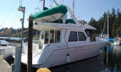 This very nice 1997 46' Navigator is clean and well equipped, including Glendenning Engine Synchronizers&Glendenning 50 amp shore power cord, retractor. Powered by twin 308hp Volvo Penta Disels.She will cruise at a very comfortable 13kts. Come see this