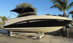 2008 Sea Ray 260 SUNDECK SUPER CLEAN PEARL/BLACK BEAUTY - ONLY 210 HOURS ON UPGRADED MERCRUISER 350 MAG DTS BR3, JUST FULLY SERVICED 1/15/13 WITH NEW RISERS & MANIFOLDS, FRESH WATER FLUSH KIT, VISIONAIR BUCKET SEATS, IN DASH GARMIN GPS. THIS WILL BE THE