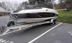 2005 Sea Ray 270 SUNDECK 2005 Sea Ray 270 Sundeck powered by aMercruiser 496 Mag.w/BravoIII drive (approx. 240 hrs.)Located at Lake Lanier,Ga.,Corsa exhaust,premier stereo upgrade,bow filler cushions,cockpit/tonneau cover,fwd.cockpit table,pump-out