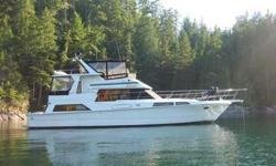 Clean 1988 Vantare 48? Cockpit Motor Yacht for sale in Campbell River, BC, Canada. In 2003 Mirasol was repowered with 430hp Volvo Penta TAMD 74 EDC diesel engines. Sellers change in plans make for a great opportunity to purchase this vessel. All pictures