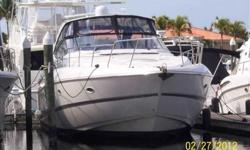 2006 Cruisers Yachts 56 EXPRESS This head-turning Cruisers 540 Express, with bold styling and deluxe accommodations, defines luxury in the nautical fast lane. Spacious interior, with two staterooms, features two full heads, enormous salon with leather