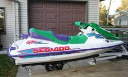 For sale is a personal watercraft lift, it will hold 2 medium pwc or one large, Very like-new condition, $499 or best offer. Also available is a 1995 Seadoo GTX, $1850 or b.o.; a double pwc trailer, $999 or b.o, exceptional condition, less than 200 mis on