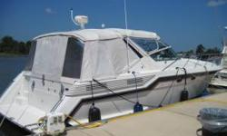 The boat was just hauled and bottom painted. New interior and exterior carpet. Engines were replaced in 2004 with Cummins 370hp diesels. I have receipts for recent work done. The boat even has a bow thruster for those novices. Contact David Rogers at