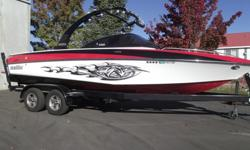This boat is loaded all the way down to the 8.1L motor. Comes with 4 tower speakers, 8 tower lights, wakeboard rack, surf rack, tower mirror, bimini, bow ballast, heater, shower, power wedge, cruise control, snap on bow and cockpit covers and more. This