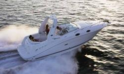 THIS IS A MUST SEE CRUISER!The sleek new design is only one of the many premium upgrades on this roomy 260 Sundancer. Typical Sea Ray ergonomics designed throughout make this boat rival any other in its class. Sea Ray also added a translucent deck hatch