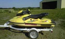 I am selling a 1997 Sea Doo XP Bombardier jet ski...runs good and looks good always stored inside just wanting to sell it and buy a boat...have ski and trailer priced at $4,000 OBO will also text more pics to serious inquirys...you can contact me Angie @