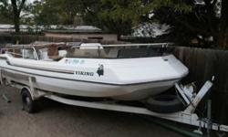 19 foot deck boat with AM FM CD player. Has all life jackets from sizes small to XXlarge, Includes air head tude. all ankers. Motor has been rebuilt. 115 HP Asking 4,000 or best offer. Please email or call Email