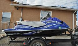 Yamaha VX Deluxe Waverunner, 3 seater, 1100, reverse, easy reboarding platform, blue/gray, comes with two covers, tuned and runs great. will sell 2 place trailer separate for $500.00
