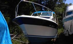 For sale my 24' 1984 Wellcraft Sportfisherman. It is powered by a Fuel Injected 350 Mercruiser with a Mercruiser outdrive. Both are fairly new. It has a head with holding tank fridg sink and stove shore power with long marine cord.Bimini top with side