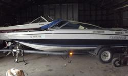 1990 Four Winns 170 Freedom 17' comes with boat cover, depth sounder, stereo am/fm cd player w/ 4 speakers, fire ext, ropeller stainless steel 3 blade, swim step w/ fold down ladder, trim indicator, transom jack and trailer. 4000 obo