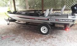 ?1987 17' Bass Tracker w/ 70 hp Evinrude motor. New carpet, new trailer tires, 2 fish finders w/ GPS, live well, 40lb trolling motor, aluminum flat bottom. Everything works & it runs great. I am in the Army & do not have time for it anymore as I only come