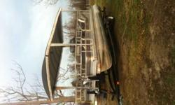 1989 Monarch pontoon boat 20 feet.Excellent running 60 horse marinerBeen in storage all its lifeInterior excellent Floors very solidBrand new trailer for years ago Only been pulled from storage to the lake low milesSeats ten peopleJust dont use it anymore
