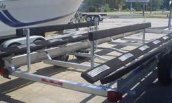 pontoon trailer for sale...aluminum i beam trailer...torsion..led lights...ladder...kodiak disc brakes on one of two axles...load guides on rear....carries 6000 lbs....call 804-263-8171...or see kjenterprisesllc.com...factory pick up price...panama city